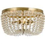 Rylee Ceiling Light Fixture - Antique Gold / Clear