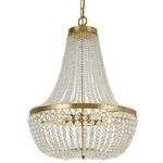 Rylee Chandelier - Antique Gold / Clear