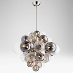 Valence Pendant - Polished Nickel / Clear