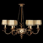 Newport Chandelier - Burnished Gold / Distressed Mirror