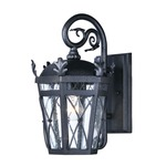 Canterbury DC 20454 Outdoor Wall Light - Artesian Bronze / Seedy Glass