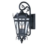 Canterbury DC Outdoor Wall Light - Artesian Bronze / Seedy Glass