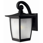 Pearl Exterior Wall Light - Black / Translucent Ribbed Glass