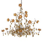 Jewel 15 Light Chandelier - Stainless Steel / Amber