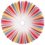 Muse Wall / Ceiling Mount - White / Multicolor