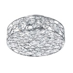 Lynda Ceiling Flush Mount - Polished Chrome / Crystal