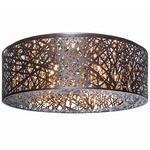 Inca Flush Mount - Bronze /