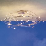 Spin 30 Light Semi Flush Ceiling Mount - Mat Chrome / Polished Stainless Steel /