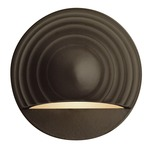12V Round Eyebrow Deck Light - Bronze / Frosted
