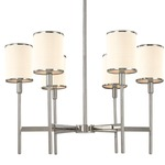 Aberdeen Chandelier - Polished Nickel / Off White