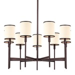 Aberdeen Chandelier - Old Bronze / Off White