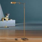 6317 Classic Reading Floor Lamp - Antique Brass /