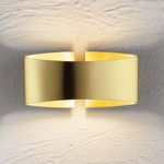 Voila Metal Wall Light - Brushed Brass /