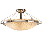 Round Ceiling Semi-Flush Mount W / Ring