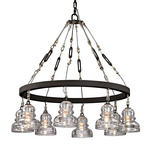 Menlo Park Chandelier - Deep Bronze / Clear