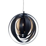 Orba Pendant - Chrome / Black