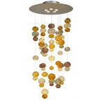Bolle Suspension - Stainless Steel / Amber / Amethyst