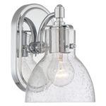 572 Bathroom Vanity Light - Chrome / Clear Seeded