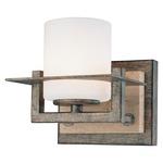 Compositions Bathroom Vanity Light - Patina Iron / Etched Opal