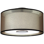 Saturnia Semi Flush Ceiling Mount - Deep Patina Bronze /