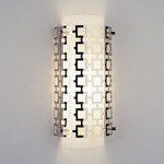 Parker Wall Light - Polished Nickel / Frosted