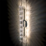 Verve Wall Sconce - Stainless Steel / Anthracite Grey / Crystal