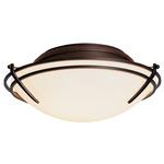 Presidio Tryne Ceiling Light Fixture - Mahogany / Opal