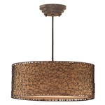 Brandon Pendant - Silken Bronze/ Dark Brown Rust /