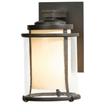 Meridian Outdoor Wall Light - Coastal Dark Smoke / Opal and Seeded