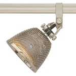 Monorail Vespa Head With S2 Little Mesh Shade - Satin Nickel / Polished Nickel