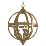 Axel Orb Chandelier -  / Chestnut