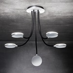 Flex 5 Light Ceiling Light - Brushed Aluminum / Black