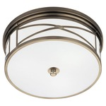 Chase Ceiling Flush Mount - Antique Nickel / Frost White