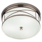 Chase Ceiling Flush Mount - Polished Nickel / Frost White