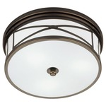 Chase Ceiling Flush Mount - Deep Patina Bronze / Frost White