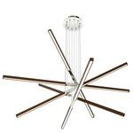Pix Sticks Tie Stix 7W Wood Suspension with Power - Satin Nickel / Wood Walnut