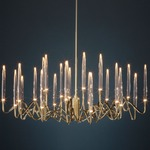 Il Pezzo 3 Round Chandelier - Polished Gold / Clear