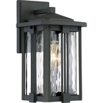 Everglade Outdoor Wall Light - Earth Black / Clear Water