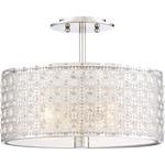 Platinum Verity Ceiling Semi Flush Light - Polished Chrome / Crystal