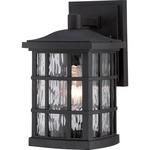 Stonington Outdoor Wall Light - Mystic Black / Clear Water