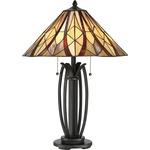 Victory Table Lamp - Valiant Bronze / Tiffany Classic