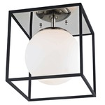 Aira Ceiling Light Fixture - Polished Nickel / Black