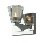 Scintillion Vanity Wall Sconce - Chrome / Crystal