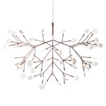 Heracleum II LED Suspension - Copper / White