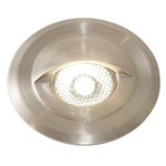 Miniport LED Eyelid Trim Step Light  - Stainless Steel /