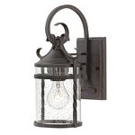 Casa Outdoor Wall Light - Olde Black / Clear Seedy