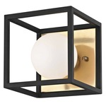 Aira Bathroom Vanity Light - Aged Brass / Black