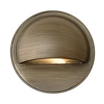 Hardy Island Round Eyebrow Deck Sconce - Matte Bronze / Clear