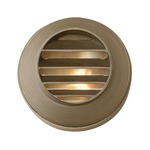 Hardy Island 12V Round Louvered Deck Light - Matte Bronze / Clear