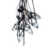 Shibari 5 Pendant - Black / Clear